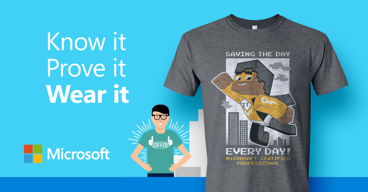 Get Certified With Microsoft Get An Awesome T Shirt Oksystem
