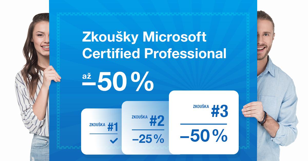 Sleva na certifikační zkoušky Microsoft až 50%