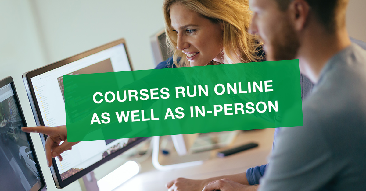 Courses run online as well as in-person
