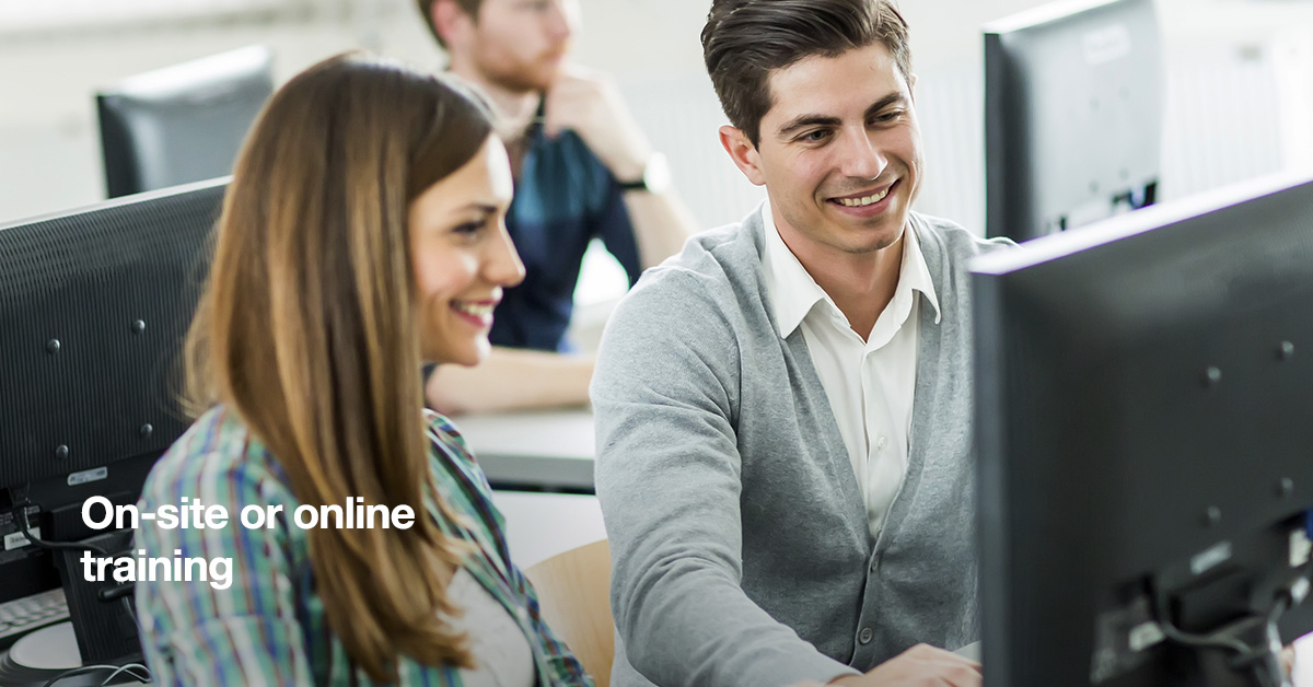 On-site or online training?