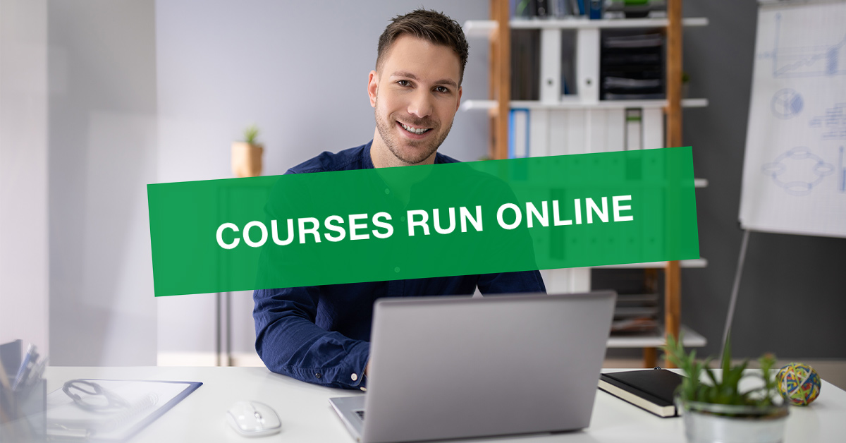 Our courses run online. Testing centre temporarily closed.