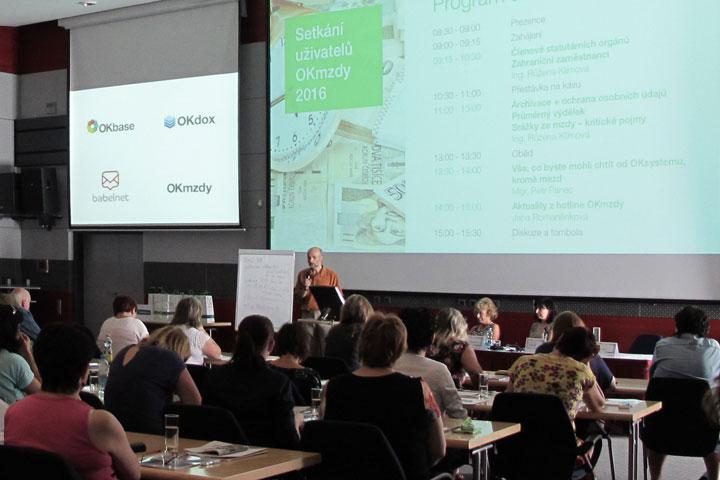 Ve čtvrtek 23. června proběhlo v konferenčním sále společnosti OKsystem tradiční setkání uživatelů programu OKmzdy.