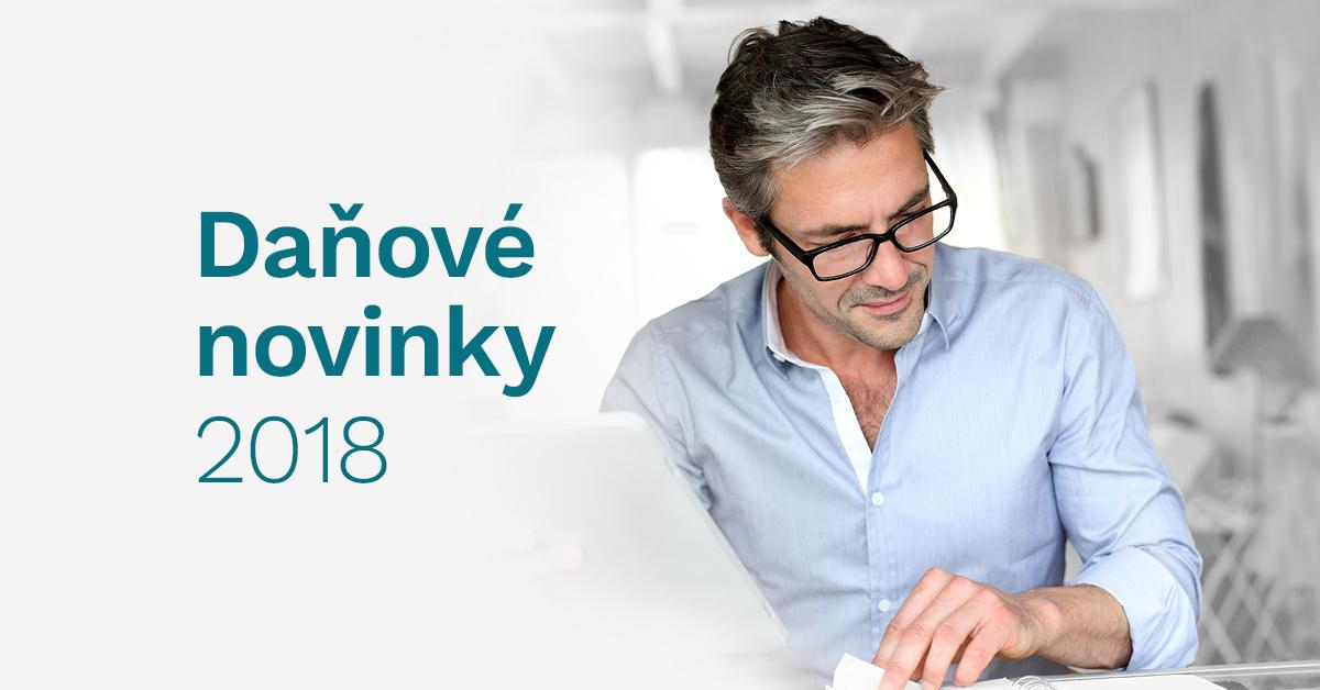 Registrace na seminář Daňové novinky 2018 spuštěna!