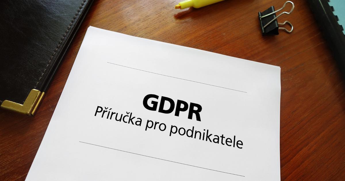 Příručka o GDPR pro podnikatele