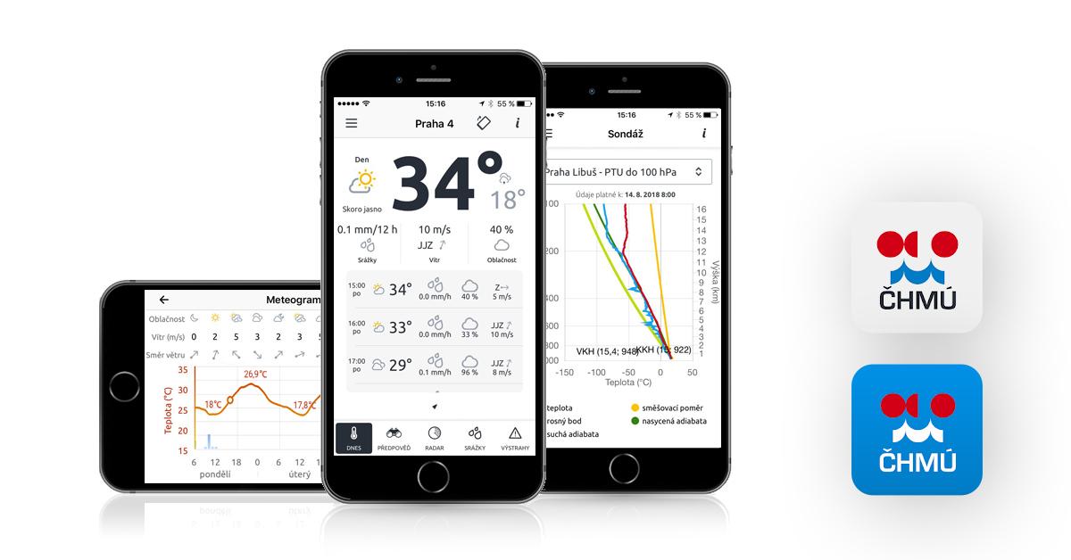 CHMU aplikace iOS
