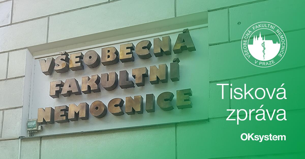 OKbase bude pomáhat Všeobecné fakultní nemocnici v Praze